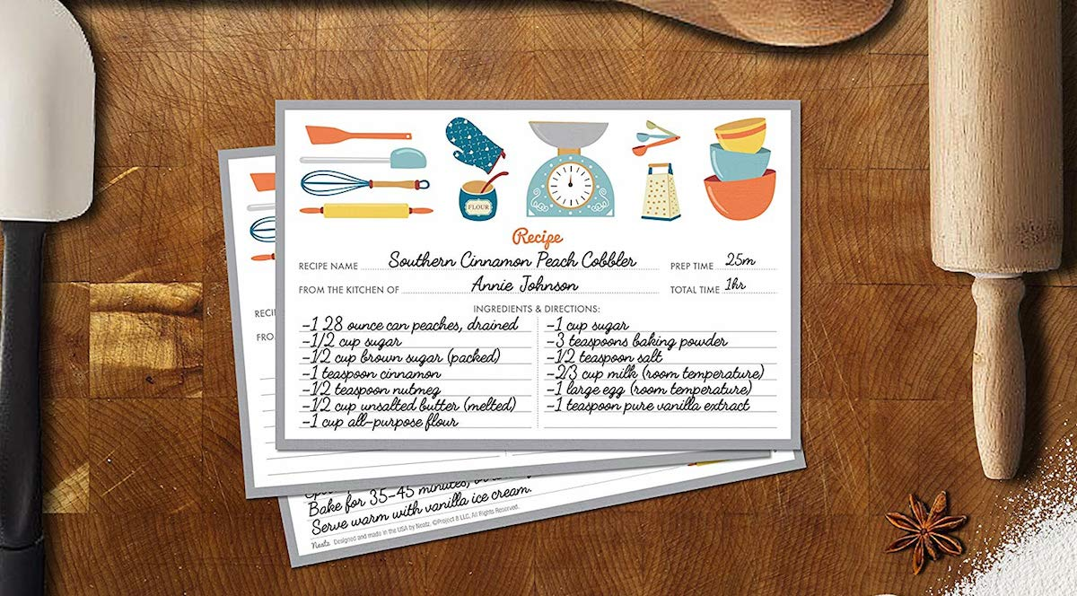 ultimate gift guide ideas under 25 — recipe cards