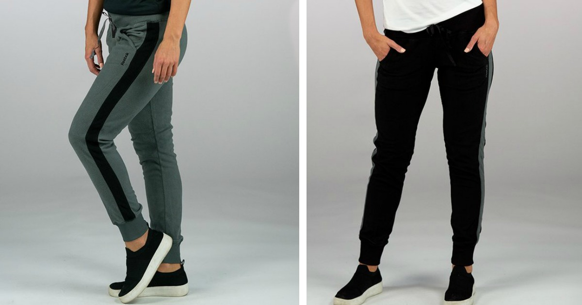 reebok women's fleece jogger pants