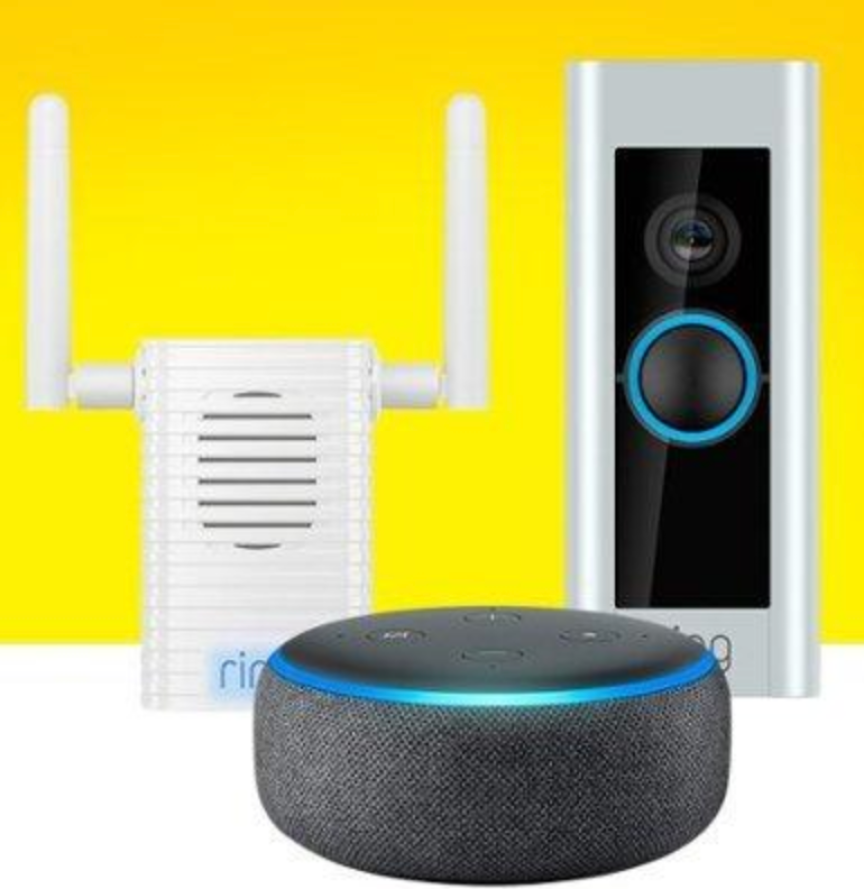 Ring Video Doorbell Pro, Chime Pro AND Echo Dot 3rd Gen Only