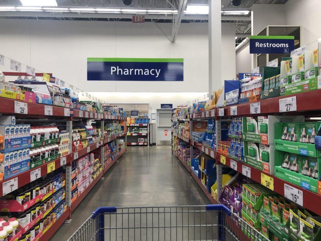 Sam's Club Pharmacy aisle