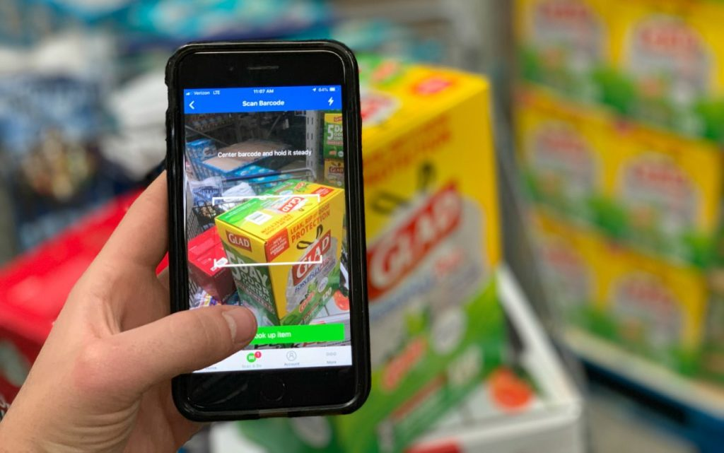 Scan & Go feature at Sam's Club