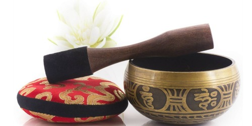 Amazon: Silent Mind Tibetan Singing Bowl Set Just $18.50 Shipped (Ideal for Meditation & Sound Therapy)