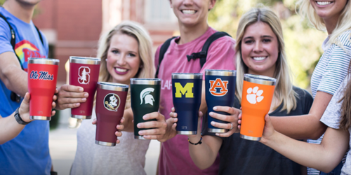 Amazon: 30% Off Collegiate Stainless Steel Tumblers & Travel Mugs + Free Shipping