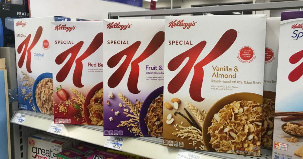 Special K cereal on shelf
