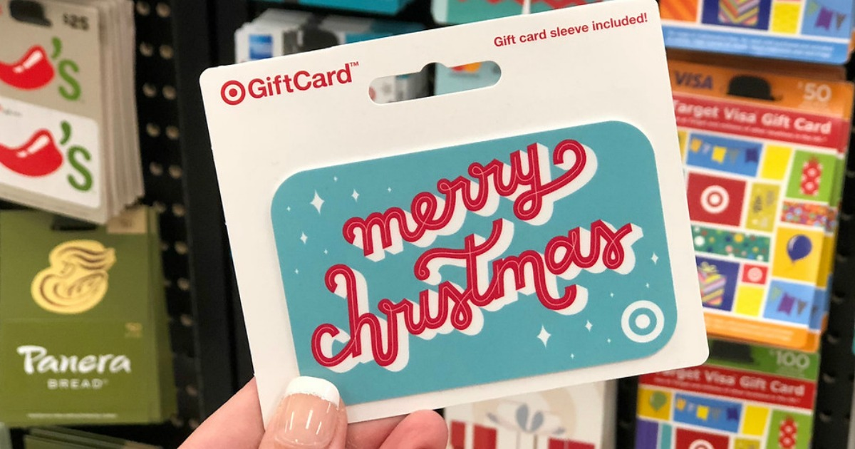 hand holding Target Gift Card