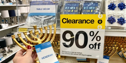 Up to 90% off Hanukkah Party Supplies at Target