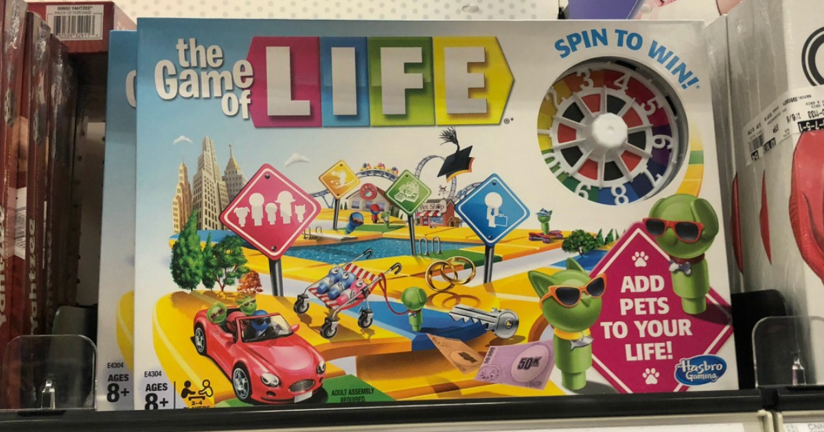 the game of life on a store shelf