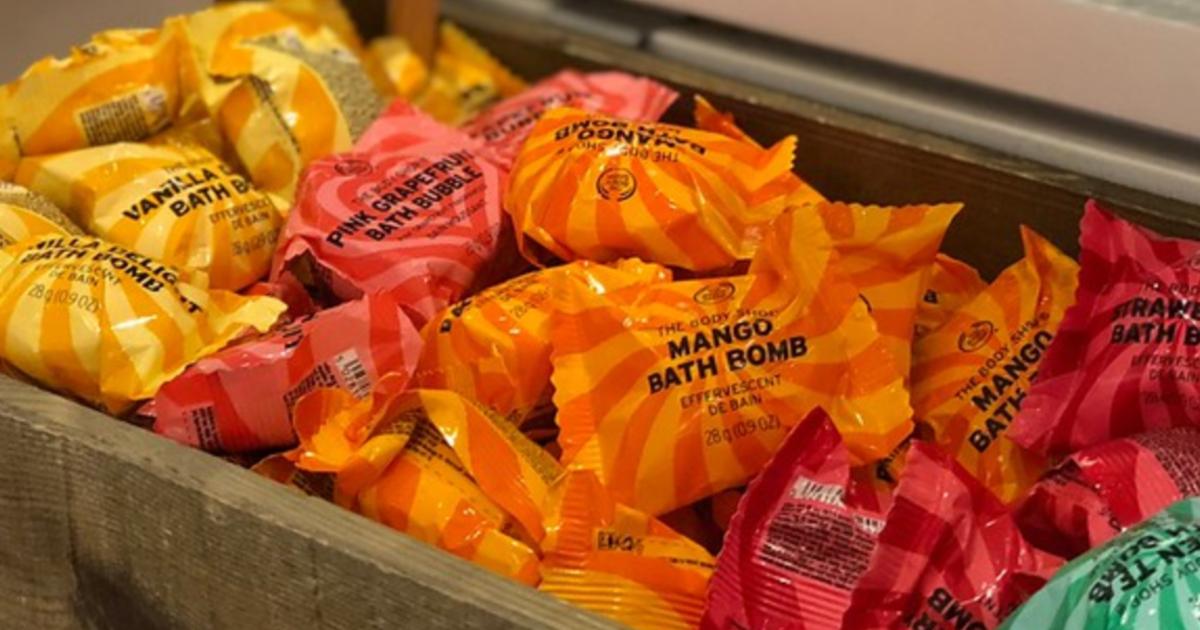 The Body Shop bath bombs