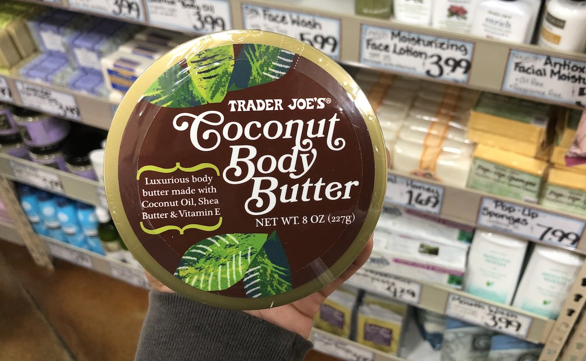 best trader joes items – coconut body butter lotion