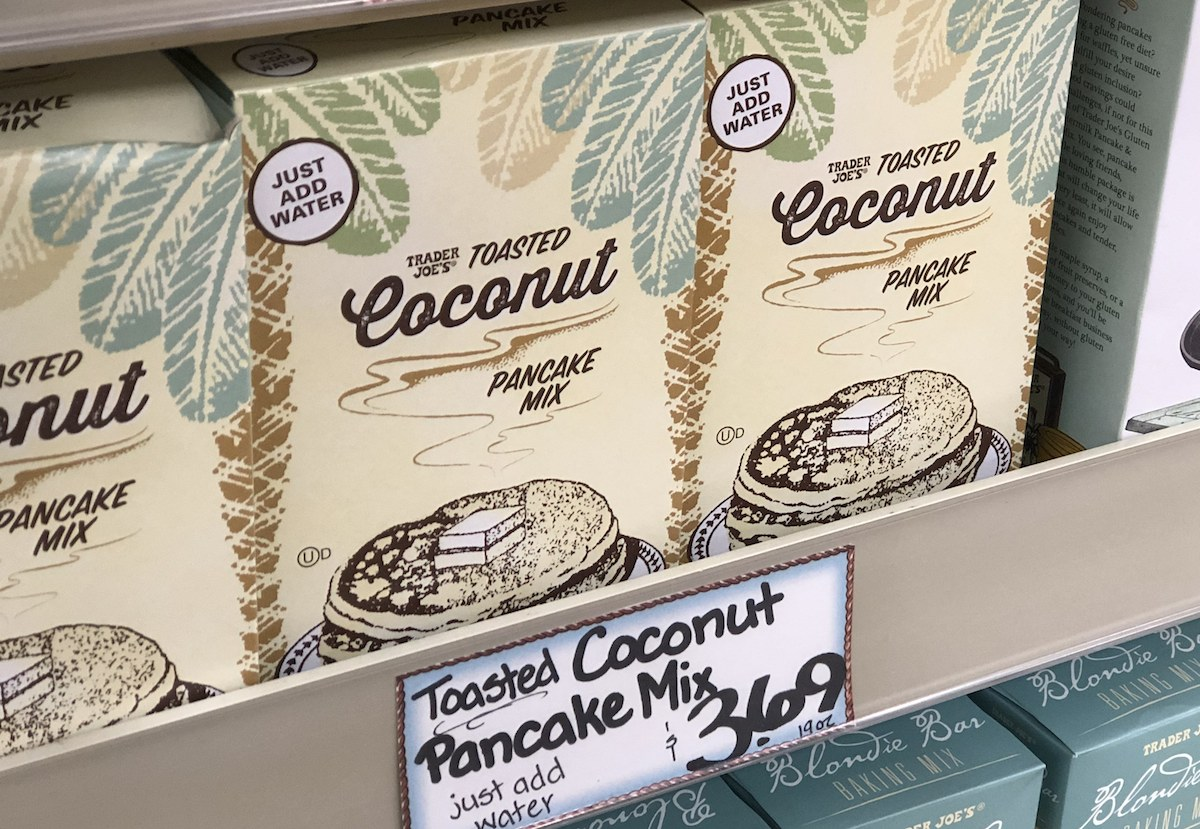 best trader joes items – toasted coconut pancake mix