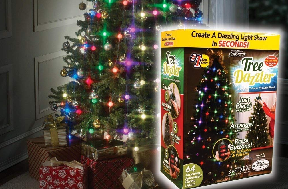 Simply place the light ring on top of any Christmas tree, position vertical strands bulbs, and watch as your tree is transformed into a As Seen TV Tree Dazzler Only $9.99 at Ace Hardware \u0026 More
