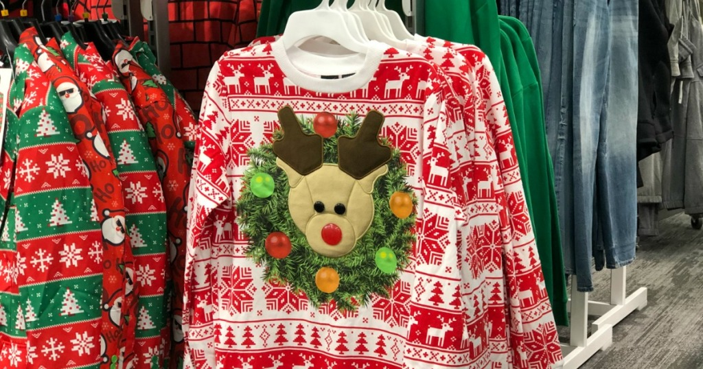 40 Off Ugly Christmas Sweaters Tees At Target In Store Online