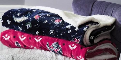 Vera Bradley Cozy Life Sherpa Throw Blanket Only $34 Shipped (Regularly $68)