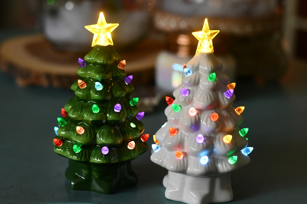 Vintage Prelit Christmas Trees