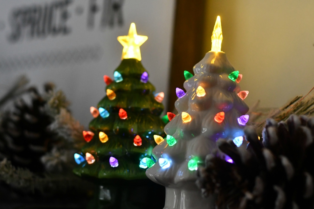 Vintage tabletop Christmas trees