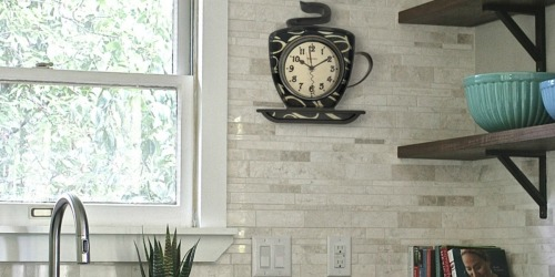Coffee Time 3-D Wall Clock as Low as $4.13 (Regularly $15)