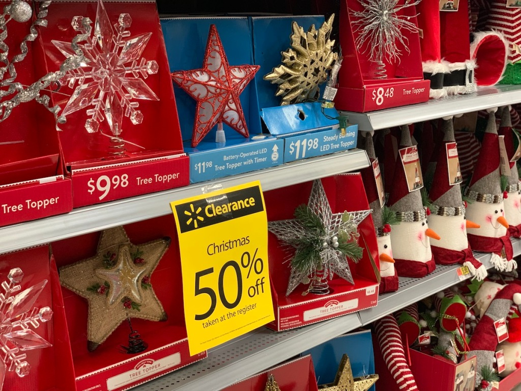 50% off Christmas Clearance at Walmart