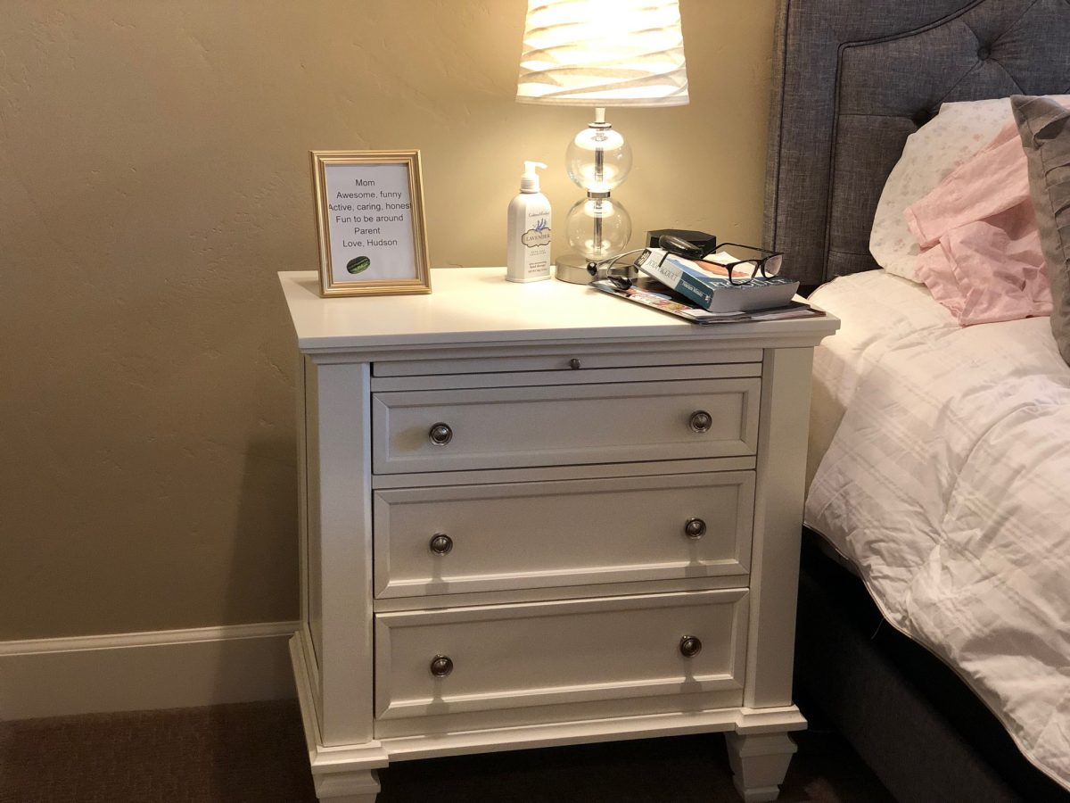 This nightstand from Wayfair came fully assembled