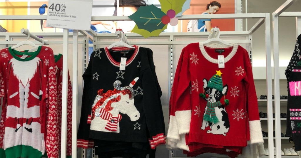 b030ec85c5d Women s Ugly Christmas Sweaters as low as  27.99 40% off discount  automatically applied during checkout. Or use the 40% off Ugly Holiday  Sweaters   Tees ...