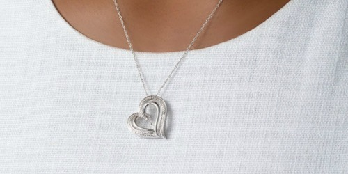 Zales Sterling Silver Jewelry w/ Diamond Accents Only $29.99 (Regularly $120)