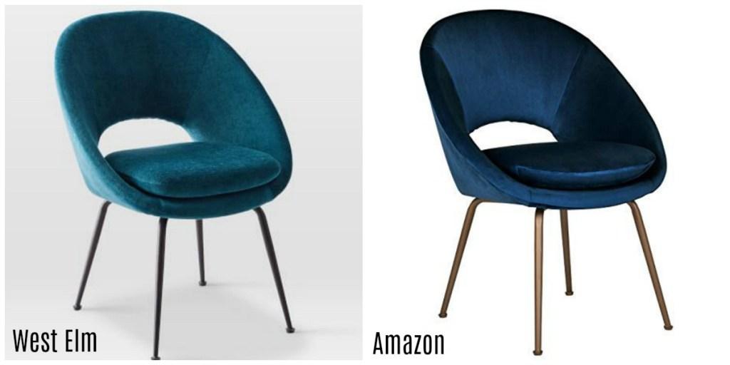 amazon chair vs west elm chair comparison