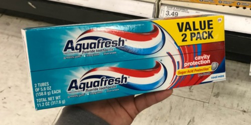 SIX Aquafresh Toothpaste Tubes Only $1.57 After Cash Back at Target (Just 26¢ Per Tube)