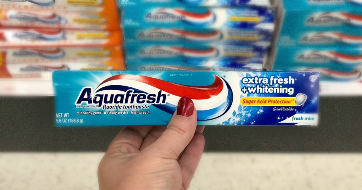 Aquafresh Whitening Toothpaste Only 10 After Cash Back At Target