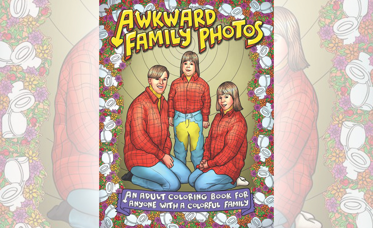 White Elephant Gifts, Gag Gifts, Funny Gift Ideas – awkward family coloring book