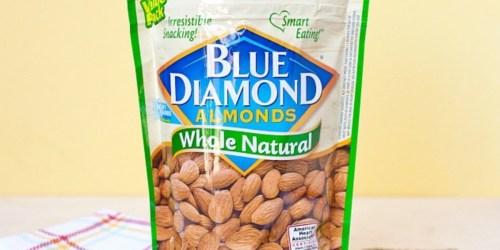 Blue Diamond Whole Natural Almonds 40oz Bag Only $10.98