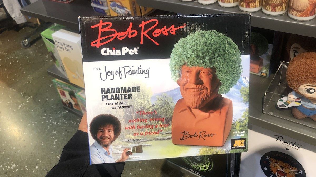 White Elephant Gifts, Gag Gifts, Funny Gift Ideas – bob ross chia pet