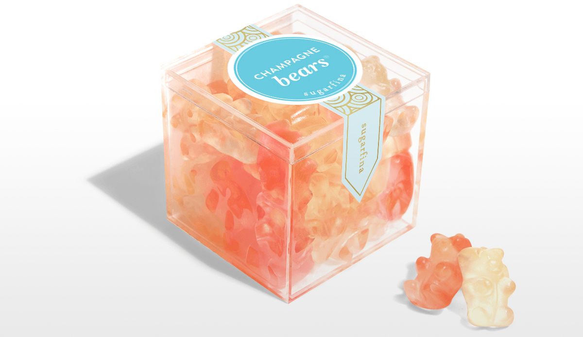 ultimate gift guide ideas under 25 — sugarfina champagne gummy bears