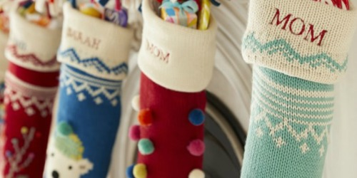 50% Off Pottery Barn Christmas Stockings + FREE Shipping