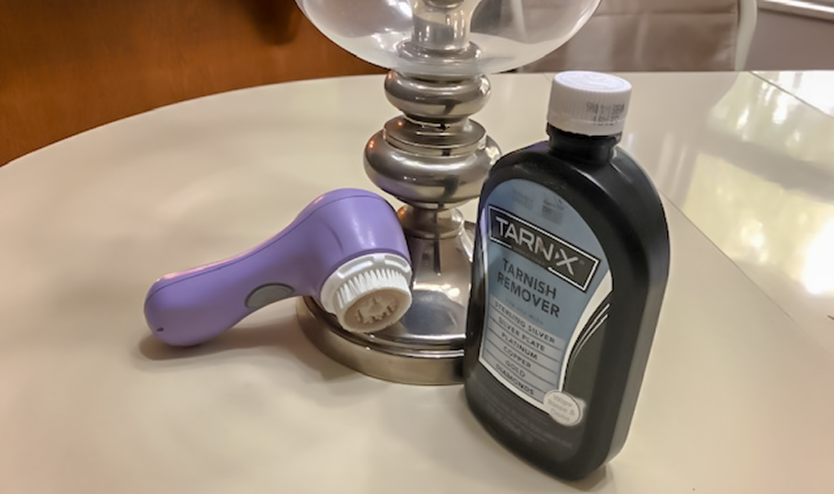 reuse old clarisonic brush heads — clarisonic and polished silver lamp