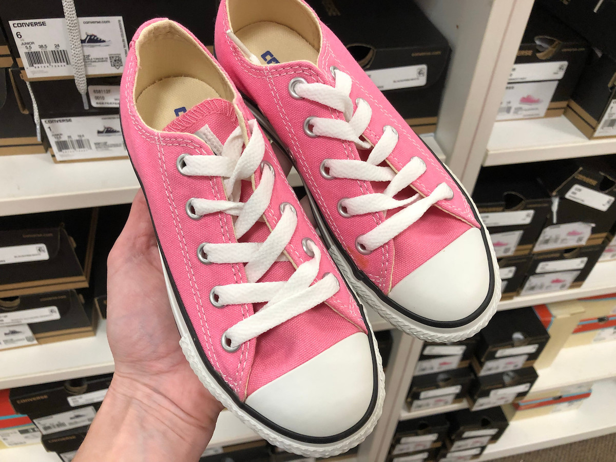 Converse shoes in pink