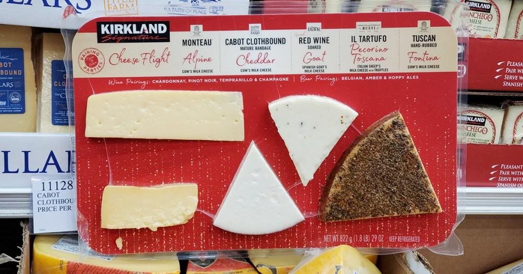 kirkland cheese flight sampler package