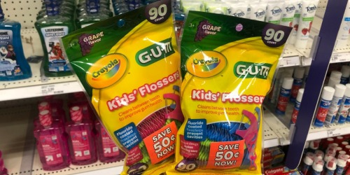 Up to 70% Off Crayola GUM Kids' Flossers at Target (In-Store & Online)