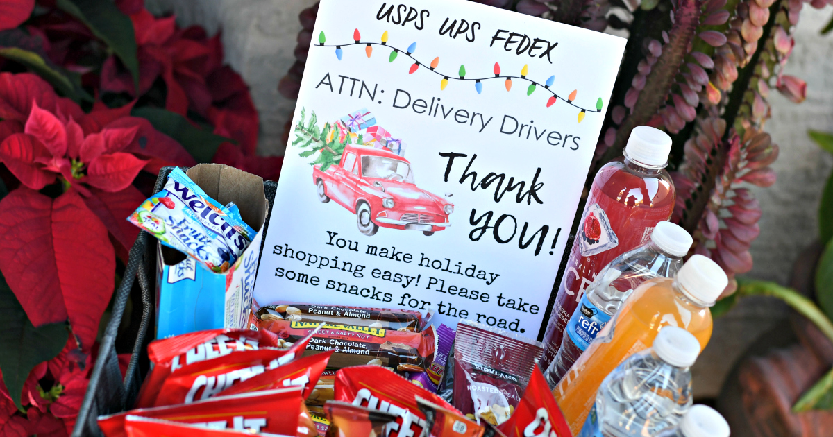 Thank Delivery Drivers for the Holidays + Free Printable