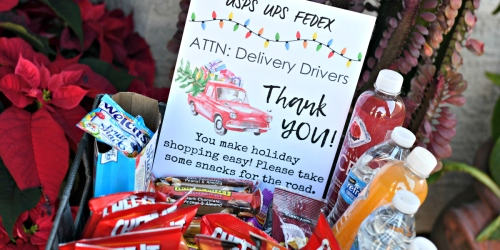Thank Your Delivery Drivers During the Holidays w/ this Idea & Free Printable Sign