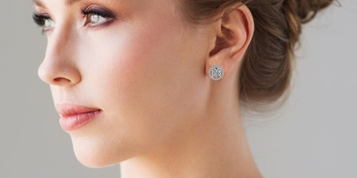 Cate & Chloe 18K White Gold Plated Earrings Only $14.99 Shipped (That's 90% Off)