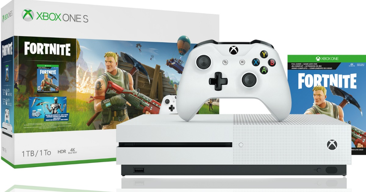 xbox one s 1tb fortnite bundle only 199 shipped