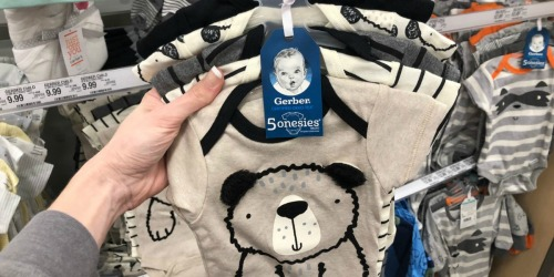 Gerber Onesies 5-Pack Only $6.99 at Target (Just $1.40 Each) & More