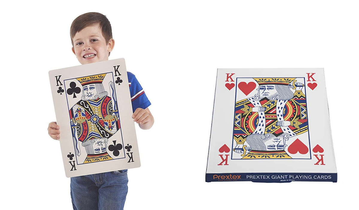 White Elephant Gifts, Gag Gifts, Funny Gift Ideas – giant jumbo playing cards