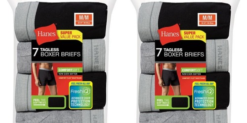 Hanes Men's Boxer Briefs 7-Pack Only $10.39 Shipped (Just $1.48 Per Pair)