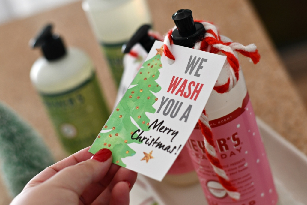 holiday soap printable labels