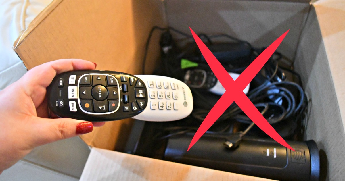 I saved 1200 on cable by streaming – packing a remote and cable supplies in a box