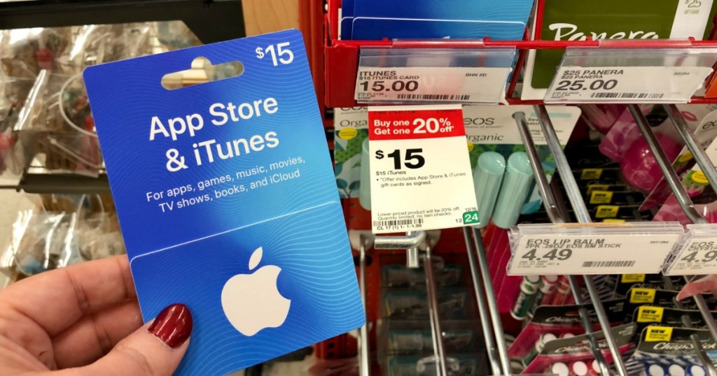 itunes gift card at target