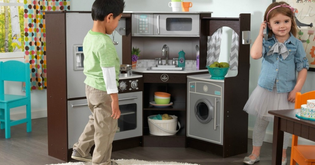 Kidkraft Ultimate Corner Play Kitchen W Lights Sounds