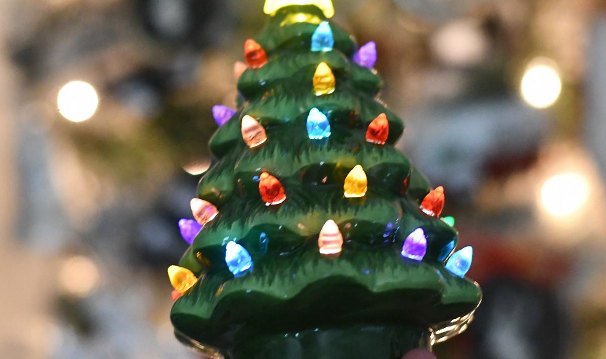 light up Christmas trees
