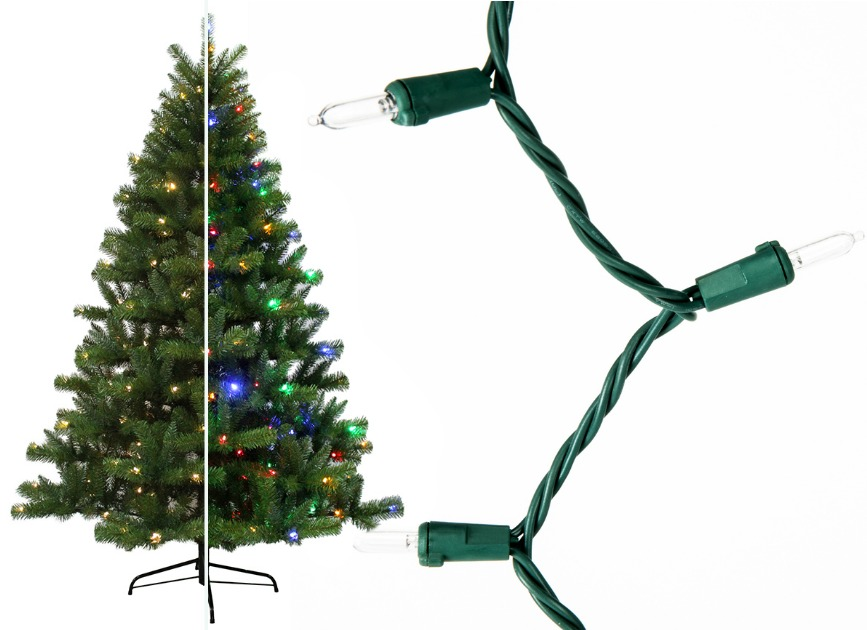 Holiday Living 6.5′ Pre-lit Seneca Pine Artificial Christmas Tree w/ 250 Multi-function Color Changing LED Lights Only $49.50 (regularly $99)