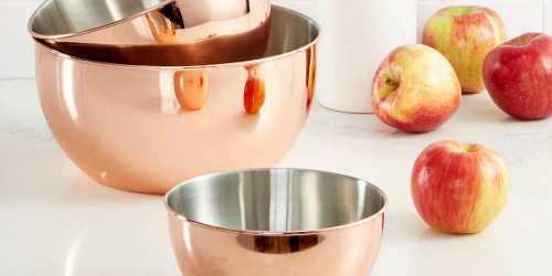 Martha Stewart Collection 3-Piece Copper-Plated Mixing Bowl Set Only $29.99 Shipped (Regularly $70)
